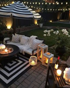 furniture ideas 45 Backyard Patio Ideas That Will Amaze amp; Inspire You Pictures of Patios - Patio Furniture - Ideas of Patio Furniture - Marvelous backyard patio furniture # However, you can start with having Front and Backyard Landscaping Ideas. Backyard Patio Designs, Modern Backyard, Small Backyard Patio, Backyard Decorations, Backyard Ideas For Small Yards, Outdoor Patio Decorating, Backyard Cafe, Outdoor Table Decor, Back Yard Decorating Ideas