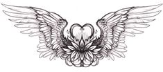 heart tattoo with wings flash art by `hibbary on deviantART ~A.R.