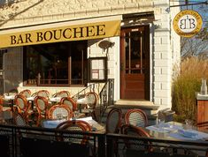 An authentic bouchon (boo' – shôn)—a type of bistro that first appeared in 19th century Lyon, France serving simple, traditional, home-style French comfort food.