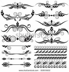 Free Filigree Designs | Download » floral design elements - » Free Vector Graphics free ...