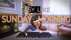 Soak up that easy-going Sunday morning feeling with a gentle vinyasa flow. We'll melt our way through this 20 min yoga class with a focus on mobilising of our spine and hips. Roll out your mat, track down the Spotify playlist from the YouTube description and enjoy 🧘♀️ #yoga #vinyasaflow #yogateacher #flow #yogini #yogaflow #youtubeyoga #youtube #yogaathome #homepractice #yogaonline #yogaeverywhere Morning Yoga Flow, Sunday Feels, Online Yoga Classes, Easy Like Sunday Morning, Yoga At Home, Vinyasa Yoga, Yoga Teacher, Spotify Playlist, Track