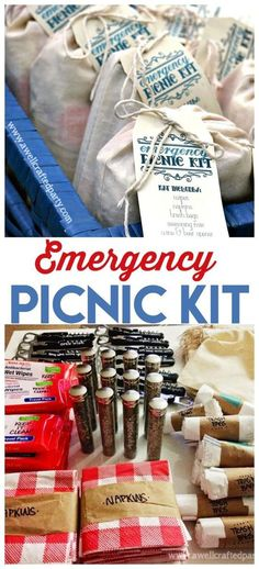 DIY Emergency Picnic Kit | Be ready for summer fun at a moments notice. Free printable tag for diy gift making. See more on http://todayscreativelife.com