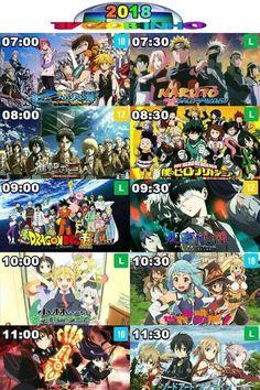 Tv schedules in heaven! Anime Meme, Otaku Anime, Anime Naruto, Manga Anime, Arte Nerd, Otaku Issues, Twin Star Exorcist, Anime Reccomendations, Cartoon Crossovers