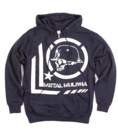 Metal Mulisha Men's Era Zip Fleece, Navy, X-Large Metal Mulisha. $49.95