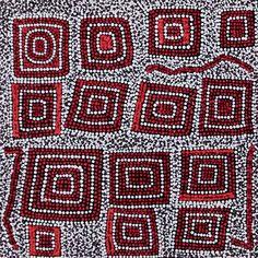 """Warlukurlangu Jukurrpa"" by Nathania Nangala Granites 46cm x 46cm $520"