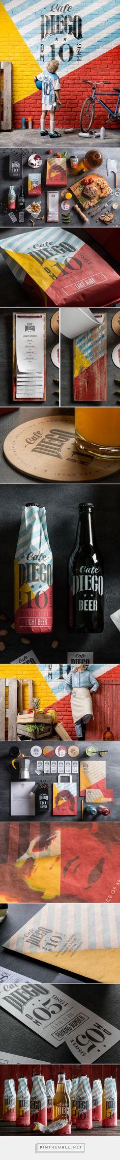 Cafe Diego Branding on Behance Web Design Agency, Brand Identity Design, Corporate Design, Retail Design, Branding Design, Corporate Identity, Graphic Design Tutorials, Graphic Design Inspiration, Brand Packaging