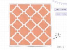 crochet corner to corner baby blanket pdf patterns by CrochetAF C2c Crochet Blanket, Crochet Chart, Wedding Cross Stitch Patterns, Tapestry Crochet Patterns, Pdf Patterns, Crochet Projects, Terra Cotta, Etsy, Sweet