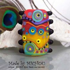 Chaya Fuera - Art Glass focal bead by Michou P. Anderson