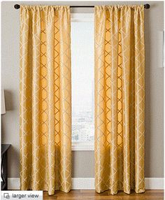 Maybe I Could Go With Gold Curtains Instead Of Black Or Red