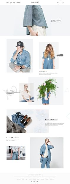 MAVIO online shop on Behance - Love a good success story? Learn how I went from zero to 1 million in sales in 5 months with an e-commerce store. Ux Design, Page Design, Layout Design, Graphic Design, Fashion Web Design, Fashion Site, Trendy Fashion, Email Newsletter Design, Email Design