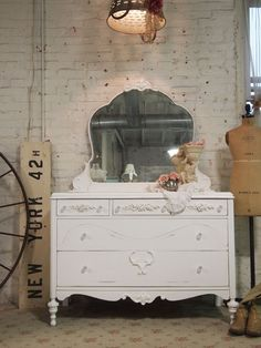Painted White French Dresser