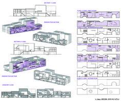 ARC204 (2015-16): Creative Hub. / Co-working Space in Suzhou - Interim Review - Li Jiaxu - Drawings