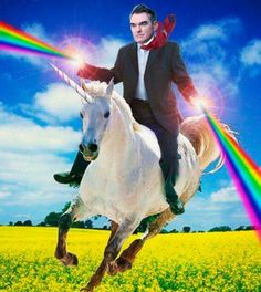 Morrissey on a unicorn. Of course