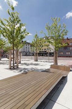 Wie gewinnt man einer Durchgangsstraße Aufenthaltsqualitäten ab? Das Berliner Büro yellow z urbanism architecture entwickelte dazu gemeinsam mit den Landschaftsarchitekten lad + aus Hannover ein dreistufiges Gestaltungskonzept. #UrbanLandscape