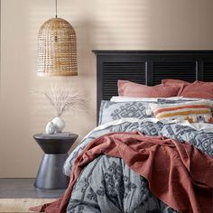 Bring an effortless style to your bedroom with the Rodriguez quilt cover. Made from natural cotton and pre-washed for extra softness, the Rodriguez quilt cover features a contemporary diamond pattern with detailed tufting. Coordinate with European pillowcases for a complete look. #duvetcover #doonacover #quiltcover #tuftedquiltcover #contemporarybedding