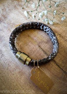 April - Snake leather bracelet - Sopisa