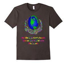 9c7493a22b27f0 Men s My Life Is In God s Hands T-shirt 2XL Asphalt Mayific https