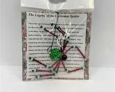 Beaded Spider Ornament | Etsy Ceramic Christmas Tree Lights, Christmas Spider, Beaded Spiders, Beaded Skull, Metal Beads, Black Glass, Cringe, Accent Pieces, Gifts For Him