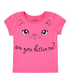 Look at this Pink 'Are You Kitten Me?' Tee - Infant