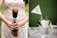 It doesn't get more #HungerGames than this: DIY arrow bouquet & primrose centerpiece