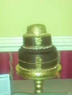 Moroccan Wedding Cake. Frosted with chocolate ganache!