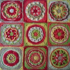 All 9 #circlesofthesun finished. Joining and border next #crochet #crochetaddict #crochetlove #crochetersofinstagram