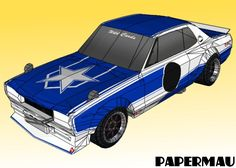 """This very well done paper model version of the 1971`s Nissan Skyline """"Hakosuka""""  was created by  Indonesian designer Thomas Truong  and wa..."""