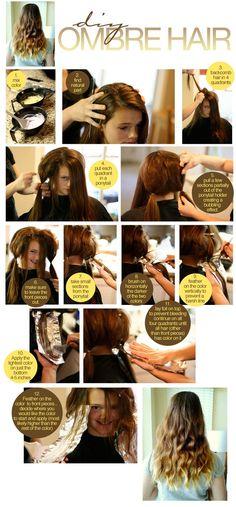 diy- ombre- dye hair- at home