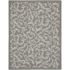 Safavieh Indoor/ Outdoor Courtyard Anthracite/ Light Grey Rug (9' x 12') | Overstock.com Shopping - Great Deals on Safavieh 7x9 - 10x14 Rugs...