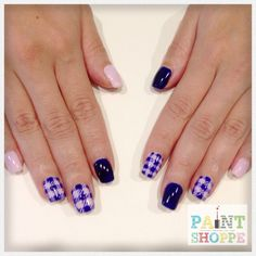 Checkered nails #paintshoppenails #eastcoastroad #singapore #nails #nailart #manicure #pedicure