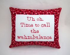 Funny Cross Stitch Pillow Red and Black Pillow Whining Quote Funny Cross Stitch Patterns, Cross Stitch Designs, Cross Stitching, Cross Stitch Embroidery, Prepaid Phones, Cross Stitch Pillow, Black Pillows, Dmc Floss, Crafty Craft