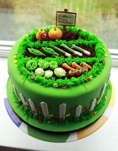 Image result for vegetable garden theme cake