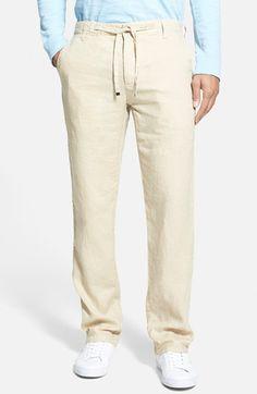 Men's BOSS 'Floyd' Drawstring Linen Trousers Ethnic Fashion, Men's Fashion, Denim Man, Linen Trousers, Ethnic Style, Lounge Wear, Boss, Khaki Pants, Nordstrom