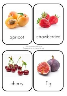 Beautiful photo fruit flashcards perfect for home or the classroom. Use to create a vocabulary rich environment or create a smaller version to use shopping. So many ways to use these photo fruit cards. Healthy Food Choices, Healthy Eating Tips, Healthy Recipes, Healthy Foods, Fruits Photos, Best Protein, Vegetable Drinks, Balanced Diet, Best Diets
