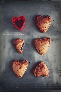 Hearts Hand Pies (fruits rouges et gingembre) // La Cerise Sur le Gateau