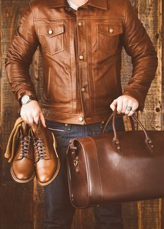 Men's Leather Jackets: How To Choose The One For You. A leather coat is a must for each guy's closet and is likewise an excellent method to express his individual design. Leather jackets never head out of styl Red Trench Coat Mens, Stylish Jackets, Casual Jackets, Men's Jackets, Smart Jackets, Bomber Jackets, Jacket Images, Revival Clothing, Gq Style