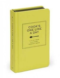 Want to start journaling but aren't sure where to start? Use a Cook's One Line a Day journal! Track all your family meals and celebrations.