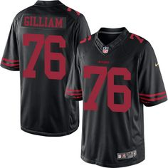 db46b5d3 Youth Nike San Francisco 49ers #76 Garry Gilliam Limited Black NFL Jersey