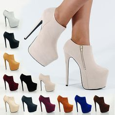 BRAND NEW HIGH HEELS PLATFORMS SHOES BOOTS HEEL PLATFORM SHOE BOOT SIZE  345678 2edeebc628ad1