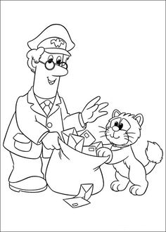 31 Postman Pat printable coloring pages for kids. Find on coloring-book thousands of coloring pages. Printable Flower Coloring Pages, Preschool Coloring Pages, Coloring Sheets For Kids, Colouring Pages, Adult Coloring, Coloring Books, Colouring Sheets, Postman Pat, Kids Prints