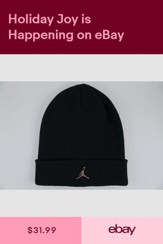 NIKE JORDAN BEANIE BLACKSILVER METAL JUMPMAN DRI-FIT CUFF HAT CAP ADULT MEN  NEW 1da8387022e7