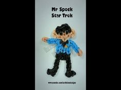 Rainbow Loom MR. SPOCK (Star Trek). Designed and loomed by Kate Schultz of Izzalicious Designs. Click photo for YouTube tutorial. 05/23/14.