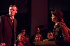 Liz FitzGibbon and Manus Halligan in Fishamble's INSIDE THE GPO by Colin Murphy. Photo by Pat Redmond