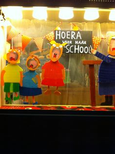 Weer naar school Etalage sept 2013 Second Hand, Rotterdam, Nars, School, Display Cases