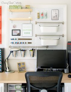 Desk with Pegboard A