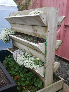 #Pallet garden planter. Not a tutorial I just spotted it at a local garden centre and took a picture so I can try to recreate it