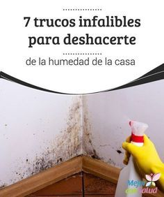 7 trucos infalibles para deshacerte de la humedad de la casa Además de utilizar productos para acabar con el moho y las humedades es importante que ventilemos las zonas para erradicar los hongos y evitar los malos olores