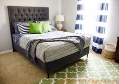 I Love the look of this craftyc0rn3r: Converting a Box Spring into a Platform Bed