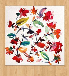 Modern Floral Watercolor - No. 4 | Art Prints | Kiana Mosley