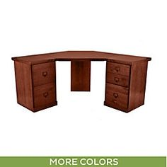 Original Home Office™ Corner Desk Group with 1-Cabinet Credenzas; could be good for condo